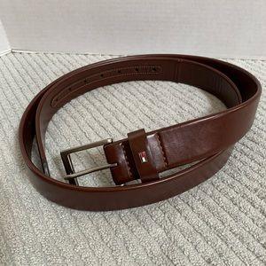 Tommy Hilfiger Brown Imitation Leather Belt